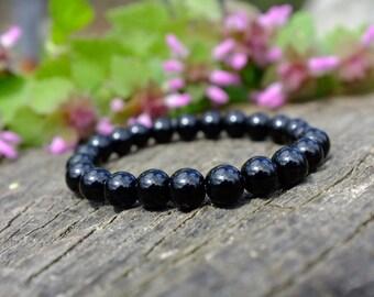 Bracelet en Onyx avec fermeture elastique