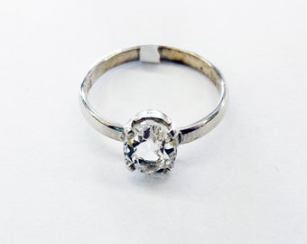 Vintage pale blue Beryllium Ring