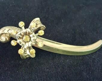 Vintage Coro Sword Brooch