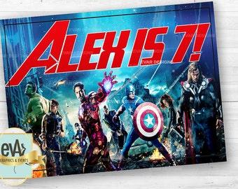Avengers Birthday Banner/ Avengers Backdrop/ Avengers Party Supplies