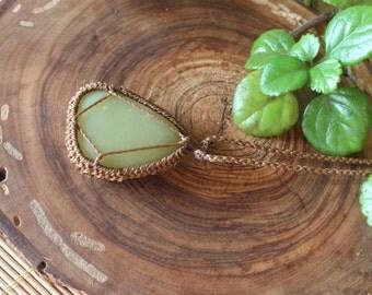 Howlita macrame necklace