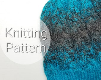 Adult Braided Cable Hat - Knit Hat - Cable Knit Hat - Cable Knit Hat Pattern- Pattern for Knitted Hats - Knitting Pattern - PATTERN