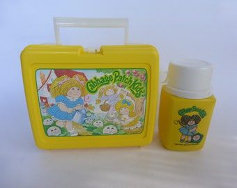 1983 Cabbage Patch Kids Lunchbox + Thermos Super clean!