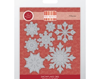 First Edition Christmas Winter Snowflake 7 Piece Die Set