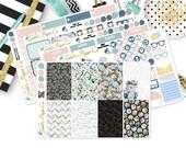 HP Secret Garden Sticker Kit, for your Happy Planner Sticker Kit, {285 HP Roses In Bloom ABCDE}