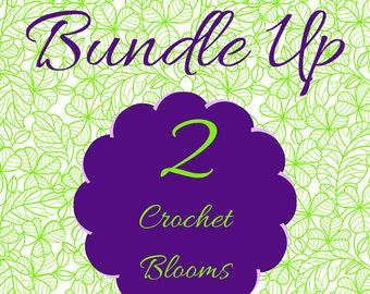 Crochet Flower Bundle, Crochet Flowers, Crochet Flower Pattern, Pattern Bundle, Sale