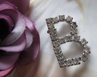 B brooch Crystal B-vintage jewelry letter letter brooch Granny of Berta's jewelry