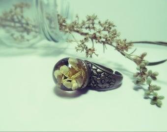 Olive flower ring.
