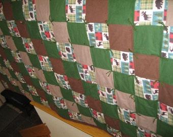 Handmade Queen Flannel Quilt