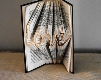 DIY Fathers Day Gift, Folded Book Art Pattern, Dad Gifts