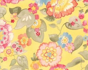 Nanette - Per Yd - MODA - by Chez Moi - Yellow Floral