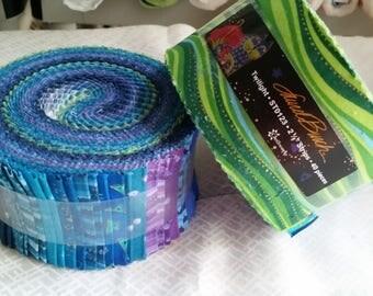 "Laurel Burch - Twilight Jelly Roll- Clothworks - 2.5"" Strips - (4C)"