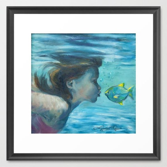 Fish Lips - Framed Paper Print