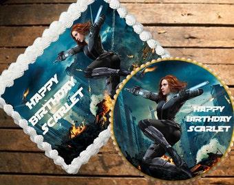 Black Widow Edible Cake Topper