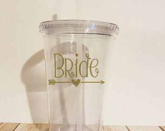Bride Tumbler, Bride To Be Tumbler, Bridal Shower Gift, Gift For Bride, Gold Tumblers, Wedding Gift, Bride Mug