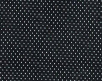 Quilting Cotton Fabric - Micro Dots on Black/White Spots on Black
