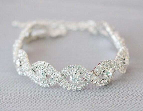 Vintage Wedding Bracelet Bridal Bracelet Crystal Wedding