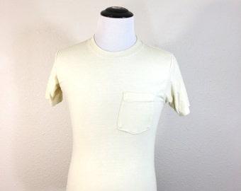 80's vintage pocket t-shirt 50/50 blend size medium made in usa
