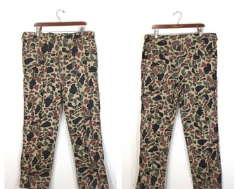 70's duck huntnr camouflage hunting pants mens size w40
