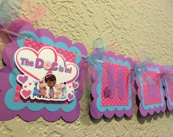 NEW STYLE Doc McStuffins Banner, Doc McStuffins Birthday Banner, Doc McStuffins Birthday, Doc McStuffins Party, Doc McStuffins