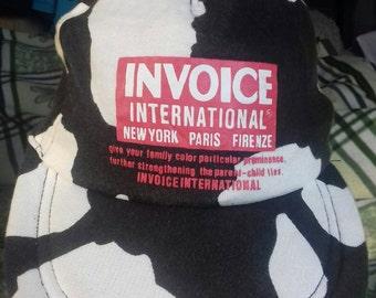 Rare vintage cap INVOICE international plastic snap size M and L 57-59 cm
