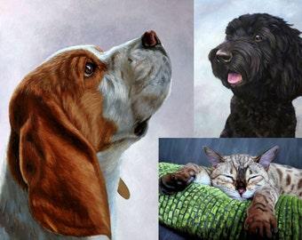 Custom Pet Portrait, Oil painting, Pet painting, Pet portraits, Pet memorial, Pet Lover gift for her or him, Commission a pet portrait.