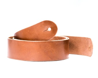 Custom Leather Guitar Strap - Handmade in the USA- Chestnut Bridle Leather - Fender Gibson Gretsch Epiphone