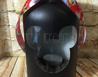 Mickey Mouse Painted Mason Jar Tea Light Candle Holder, painted mason jar, mason jar,tea light, candle holder, lantern,  mickey, cute, gift