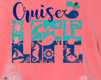 Cruise Life Family Tees Vacation Monogrammed Customized Personalized