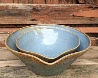Nested Batter Bowl Set with pouring spouts