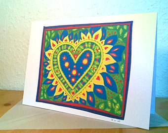 """Greeting card (A6) with envelope, """"Power of the Heart"""""""