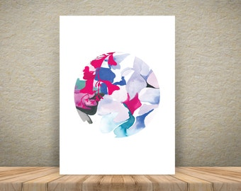 Colour burst – watercolour A3 print