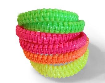 Neon Plastic Lace Bracelet