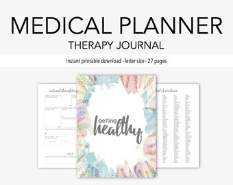 Medical Journal: Medication, Home Management, Doctor, Dental, Vision, Mental Health, Eating Disorder, Organization, Therapy Journal
