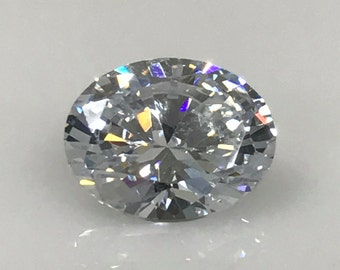 Russian Cut Oval Cut Simulated Diamond 10 x 8 MM