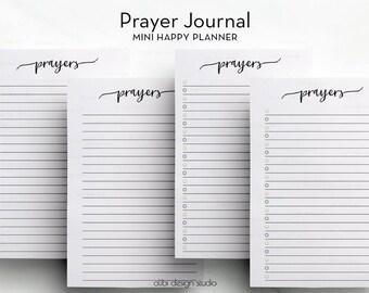 Prayer Journal • Prayers Printable • MINI Happy Planner Inserts • MINI mambi Inserts • Prayer Journal • Prayer Inserts • Faith Planner
