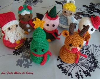 Crochet Christmas figurines