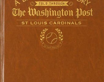 Washington Post St Louis Cardinals Baseball Book - Leatherette -with embossing on front vover