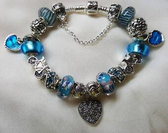 Mother & Son sterling silver bracelet