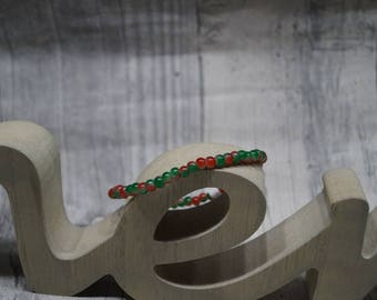 "Strap elastic ""red green marbled"""