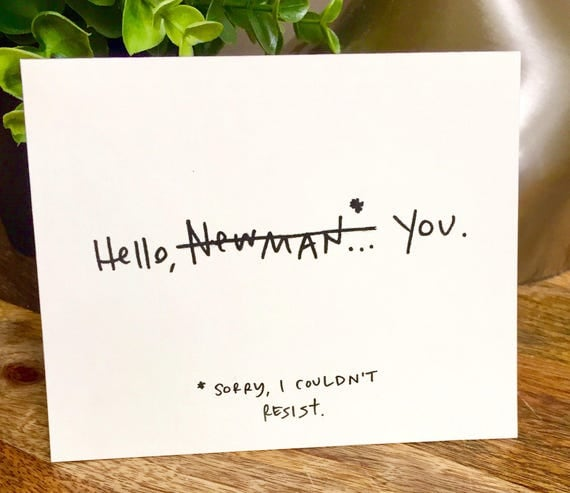 Set of 10 Blank Notecards, Hello Newman Hello Card, Seindeld cards, Hand Lettered Thank You Card Set, Bulk Note Cards hello