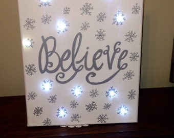 Light Up Believe Canvas