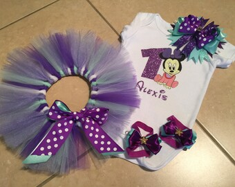 Tutu Set - Purple Minnie