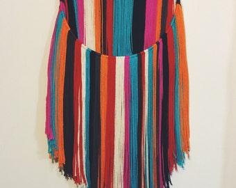 Multi-Color Yarn Wall Hanging