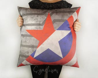 Captain America and Winter Soldier - Steve and Bucky - hand made decorative pillow case