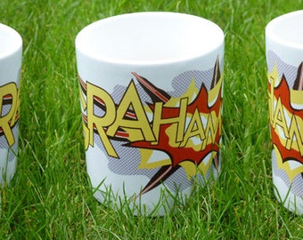 Personalised Pop Art Lichtenstein-style Mug with Your Name