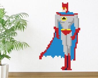 8 Bit Superhero Wall Decal