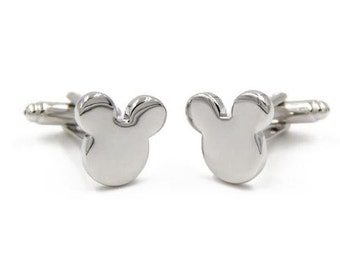 Mickey Mouse - Cufflinks-k79/ small Free Gift Box**
