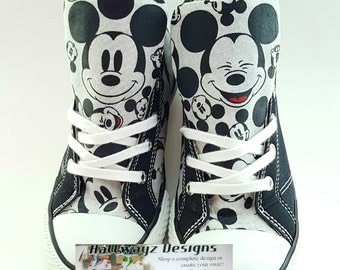 Disney Birthday, Mickey Mouse shoes, Converse sneakers, Disney, chucks