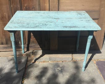 Antique Folding Sewing Table